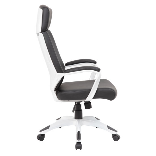 High Back Modern Executive Chair with White Frame