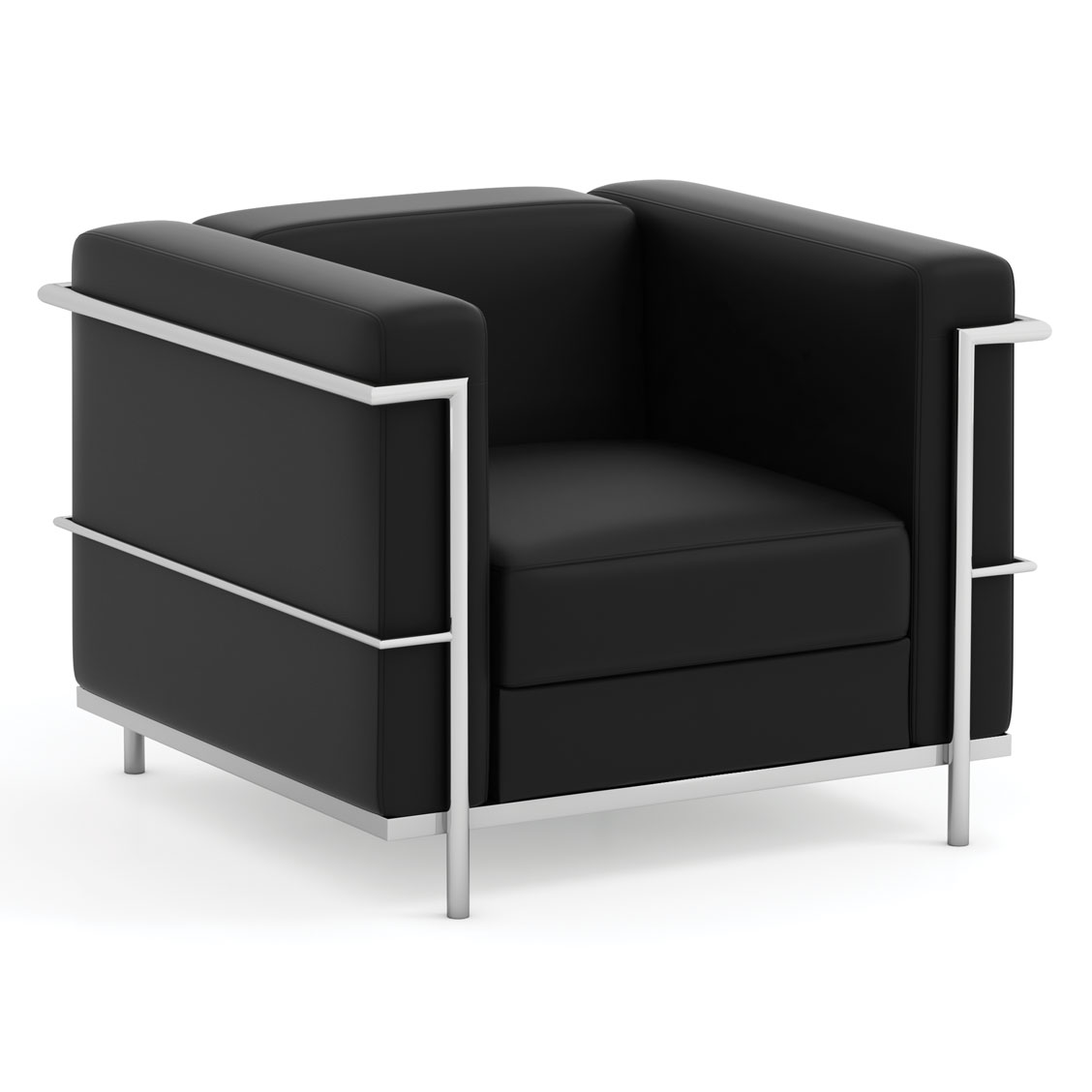 OfficeSource Madison Collection Club Chair with Chrome Exposed Frame
