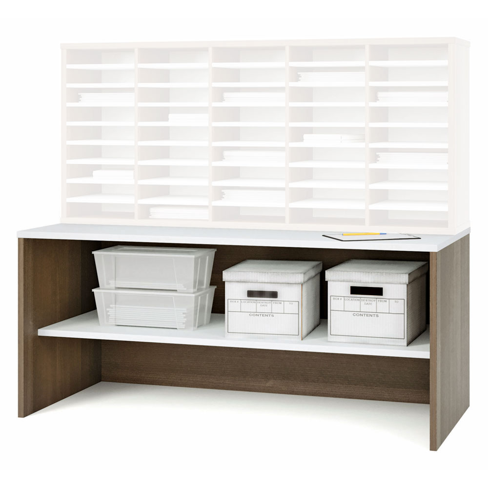 """Desk Shell with 24"""" D Fixed Shelf"""