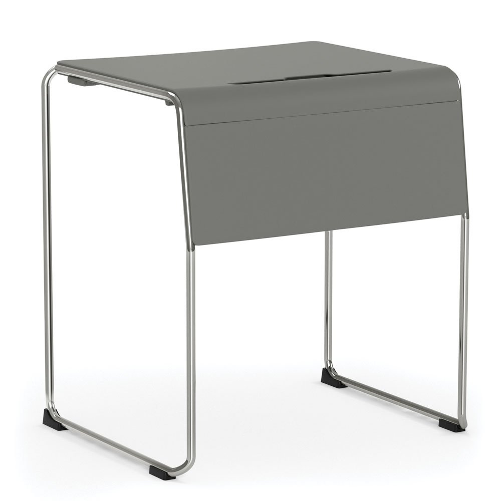 OfficeSource Mario Collection Student Stackable Desk with Chrome Frame