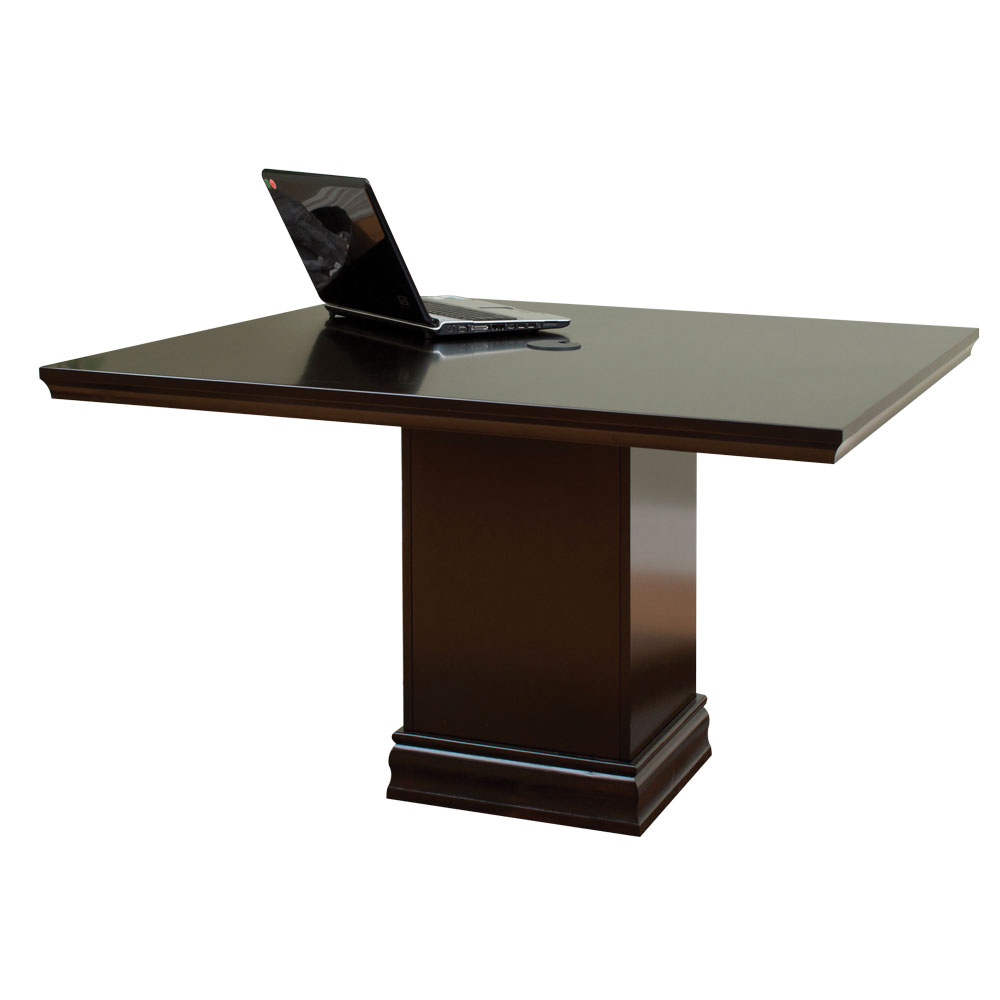 OfficeSource Markle Collection Square Expandable Conference Table