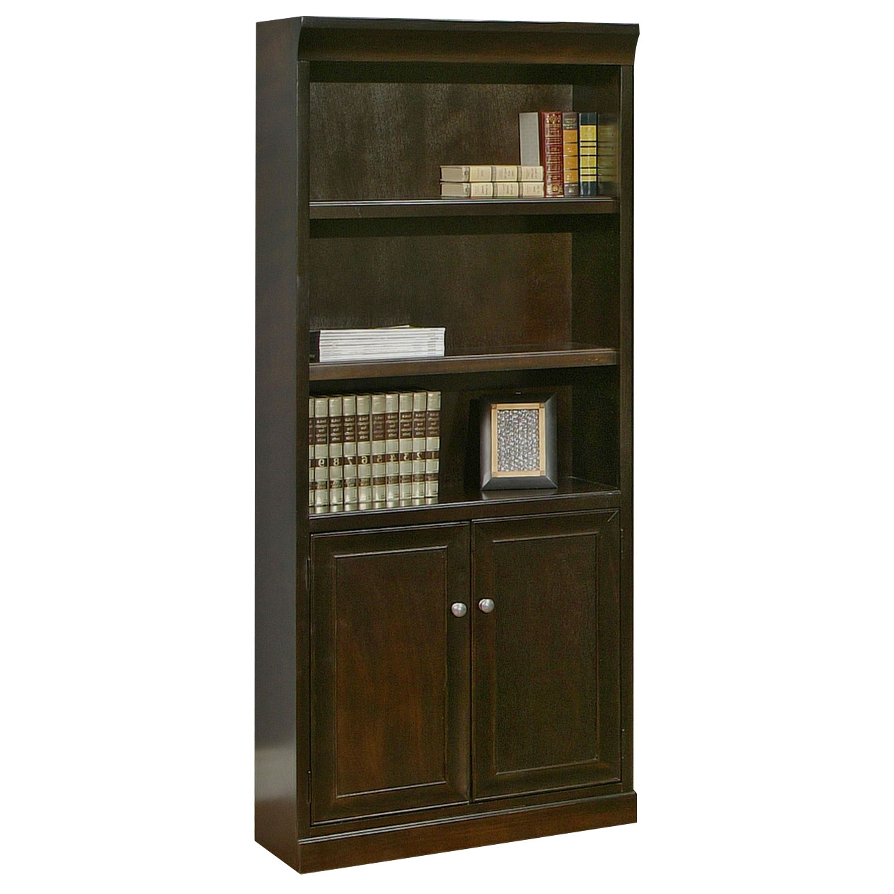 "OfficeSource Markle Collection 72""H x 30""W Bookcase With Doors"