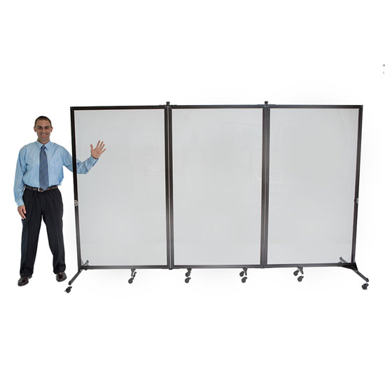 3 Panel Clear Divider