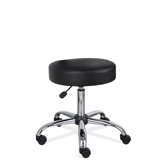 Medical Stool with Polished Chrome Base