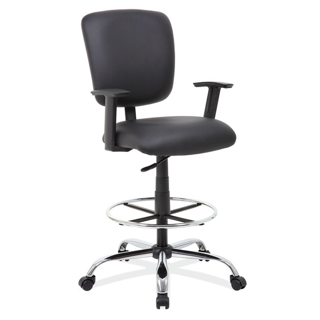 OfficeSource Medical Stools Task Stool with Footring and Chrome Base