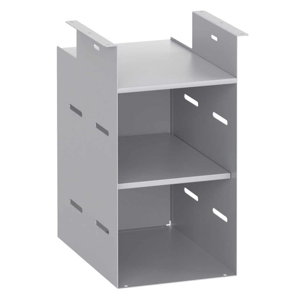 OfficeSource Metal Open Hanging Storage Collection Open Hanging Storage with Shelf