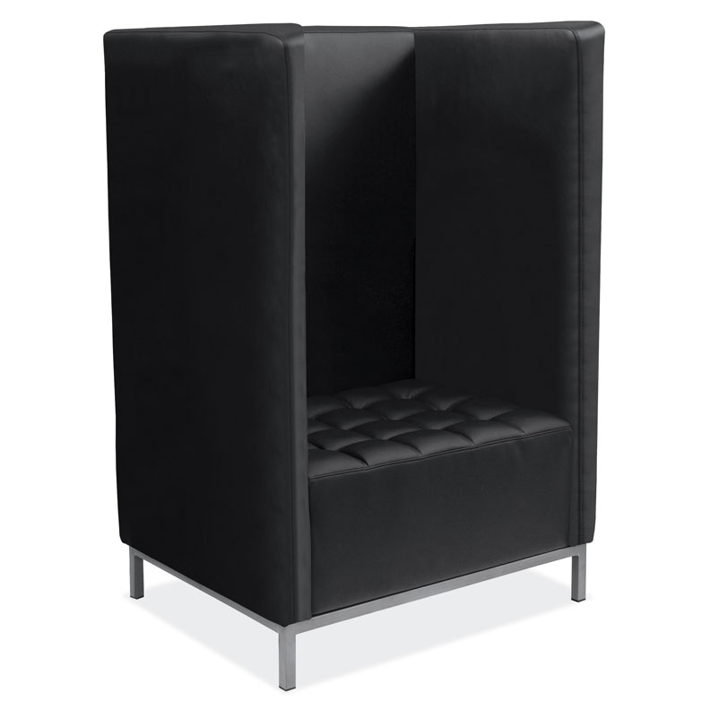OfficeSource Millennial Collection Privacy Chair Cubby