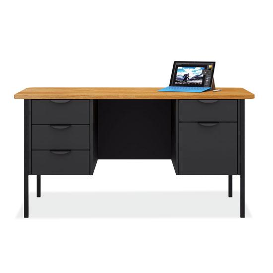 Teacher's Double Hanging Pedestal Desk