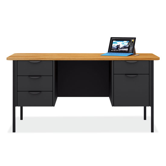 Teacher's Double Hanging Pedestal Desk