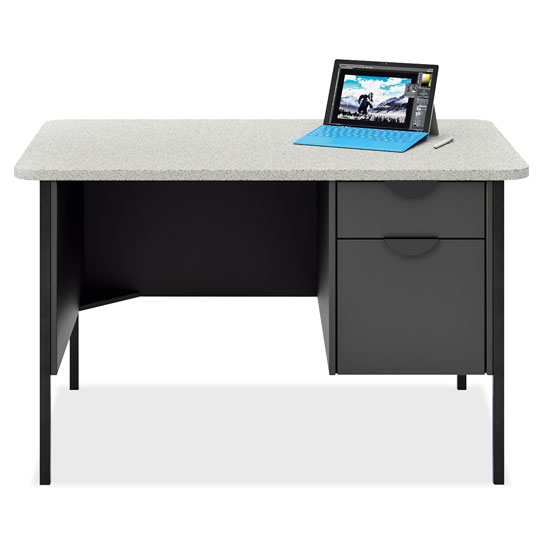 Teacher's Single Hanging Pedestal Desk