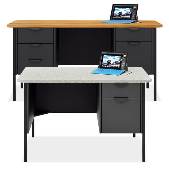 Teacher's Metal Leg Desks