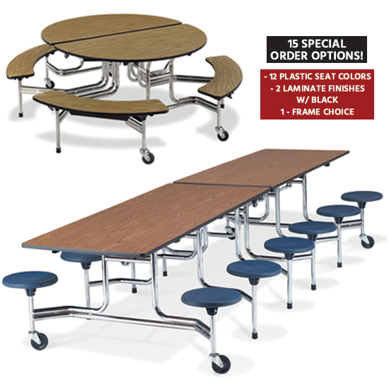 Mobile Stool & Bench Tables
