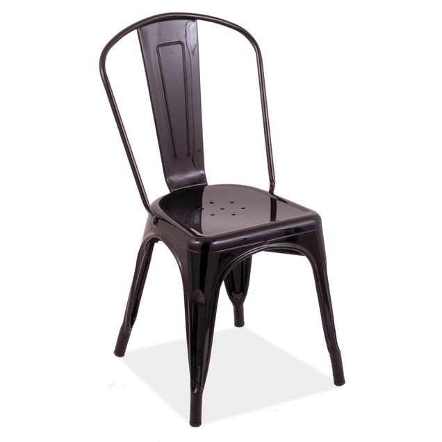 Indoor or Outdoor Industrial Dining Stack Chair