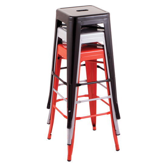 30''H Backless Indoor or Outdoor Industrial Barstool