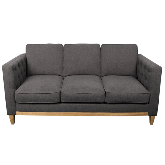 Sofa with Light Brown Wood Base