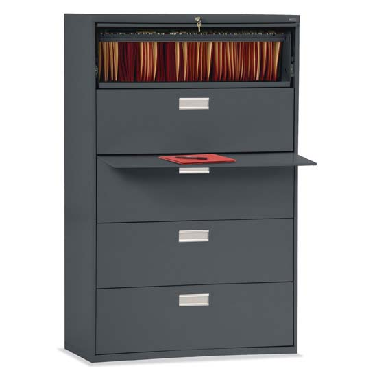 "5 Drawer 42"" W Lateral File"