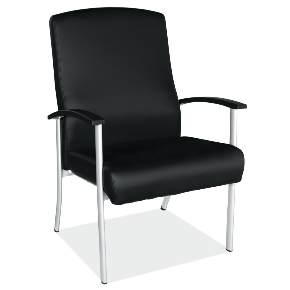 OfficeSource OS Big & Tall Collection Big and Tall Guest Chair with Silver Frame