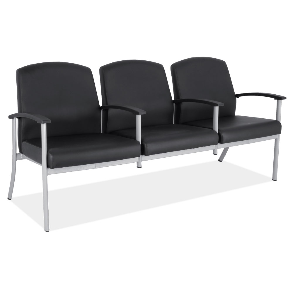 OfficeSource OS Big & Tall Collection 3 Seater with Silver Frame