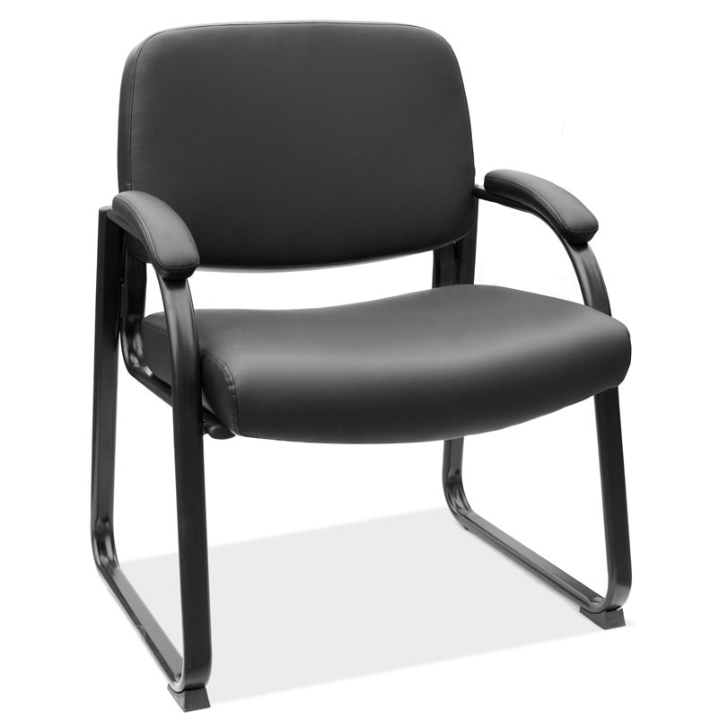 Big & Tall Guest Chair with Black Frame