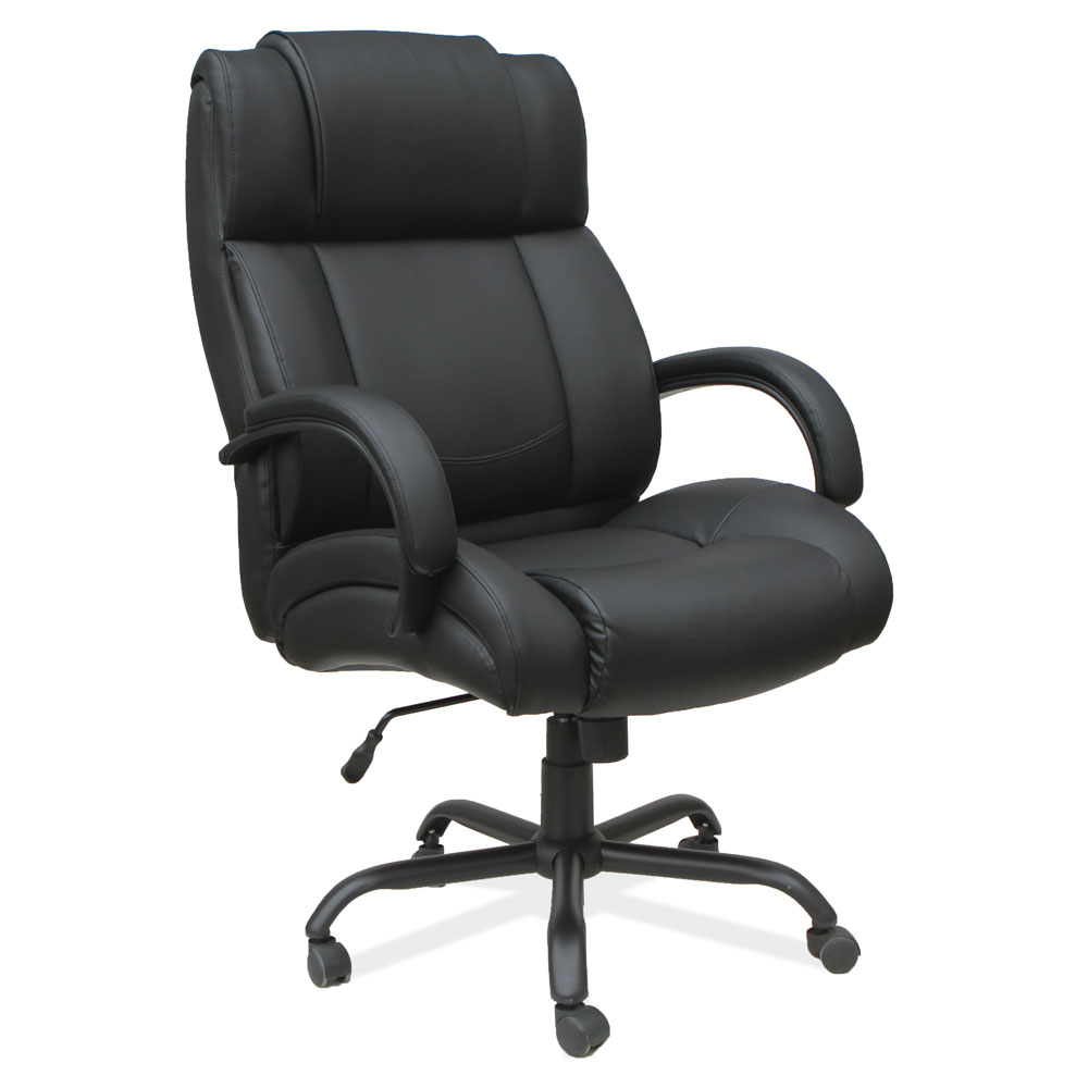 OfficeSource OS Big & Tall Collection Big and Tall High Back Chair with Black Base