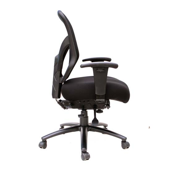 Big and Tall High Back, Multi-Function Chair with Black Steel Base