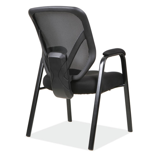 Mesh Back Guest Chair with Arms and Black Frame