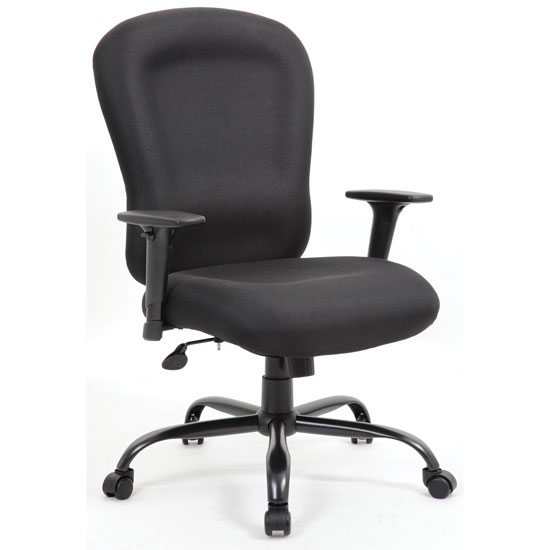 Big and Tall Executive High Back Chair with Black Steel Base