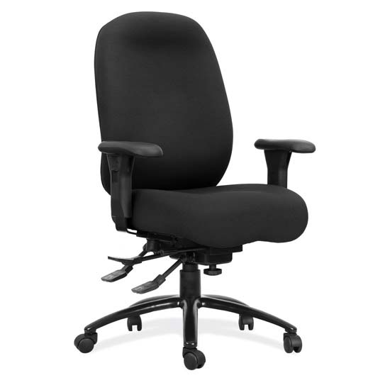 24-7 Executive High Back Chair with Black Steel Base