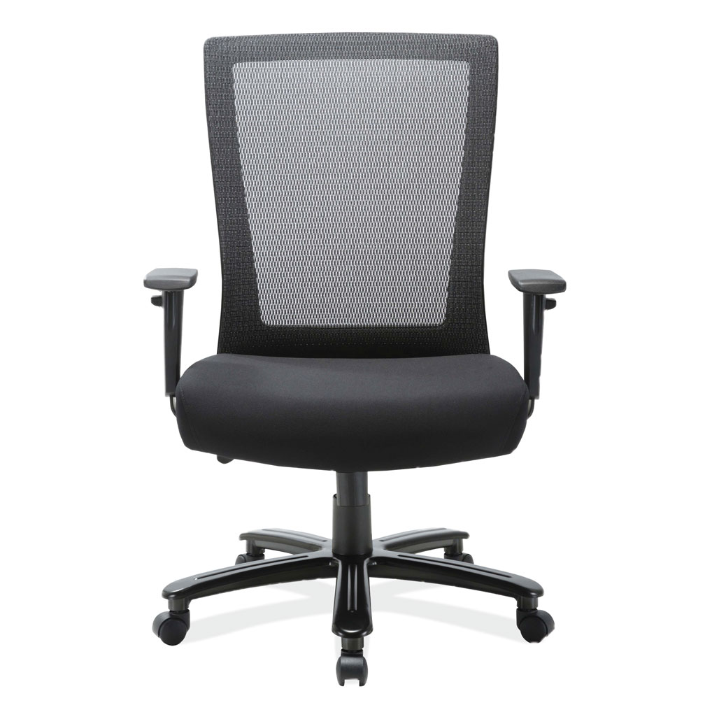 Big and Tall High Back Chair with Black Frame