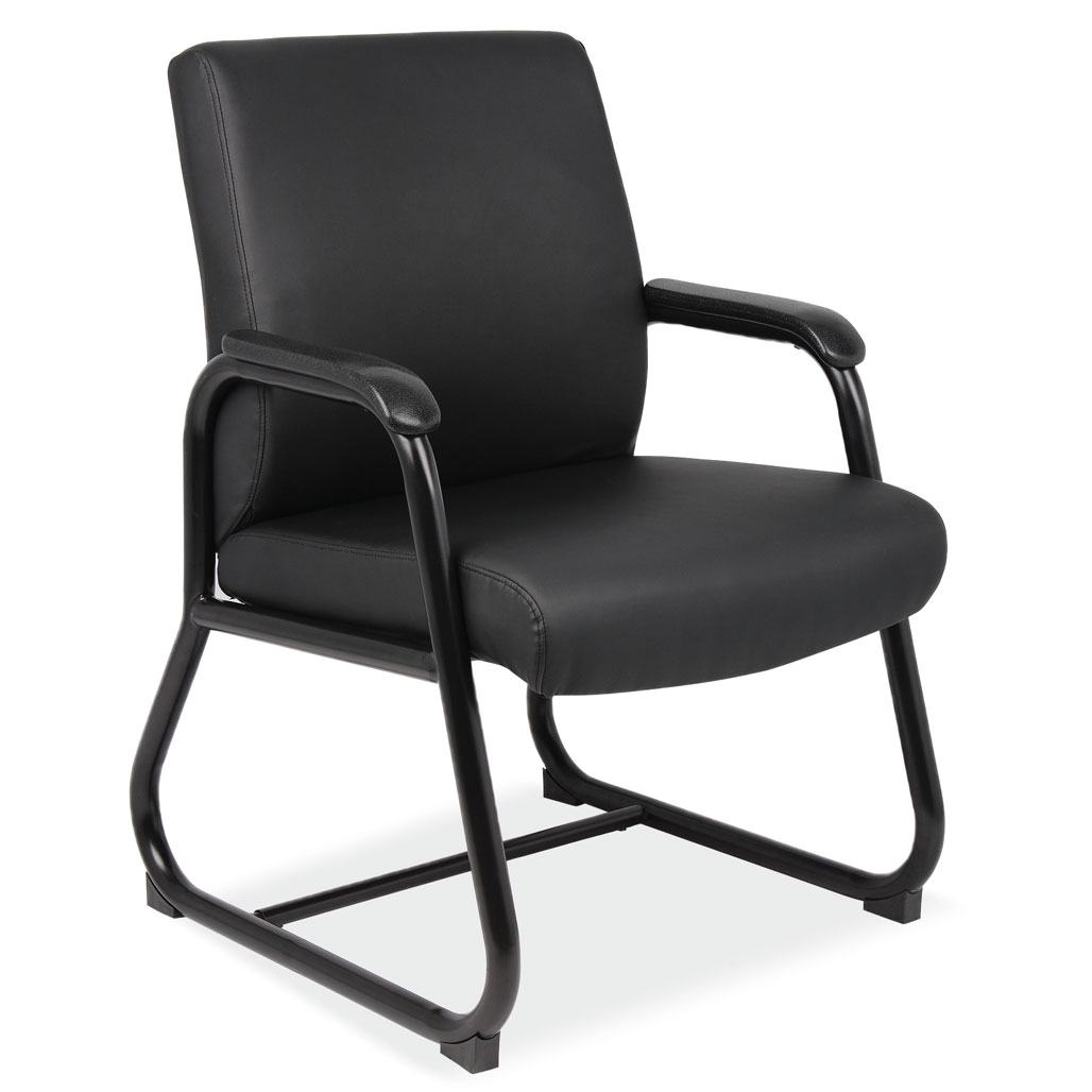 Sled Base Guest Chair with Black Frame