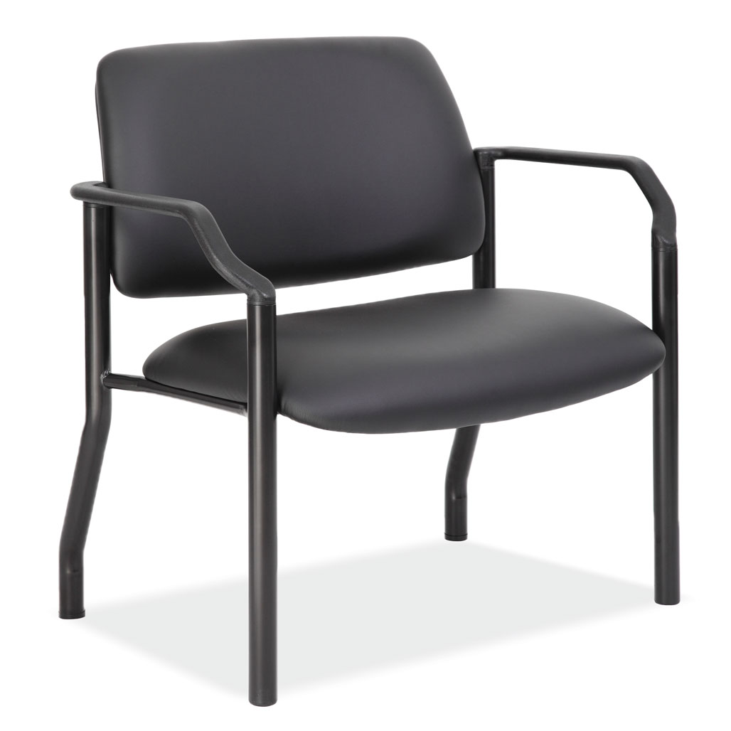 Guest Chair With Arms and Black Frame