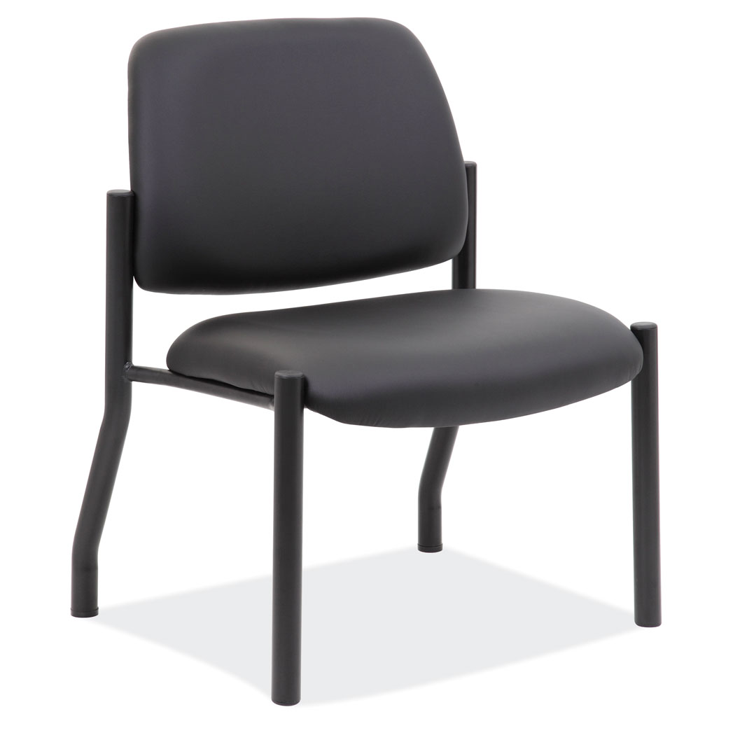 Armless Guest Chair with Black Frame
