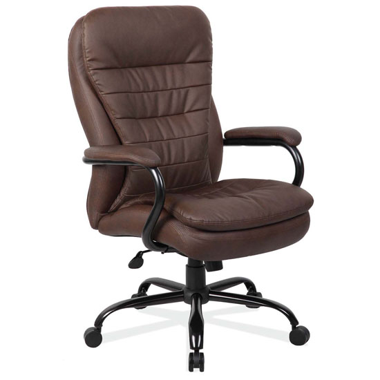 OfficeSource OS Big & Tall Collection Big and Tall Executive High Back with Black Frame