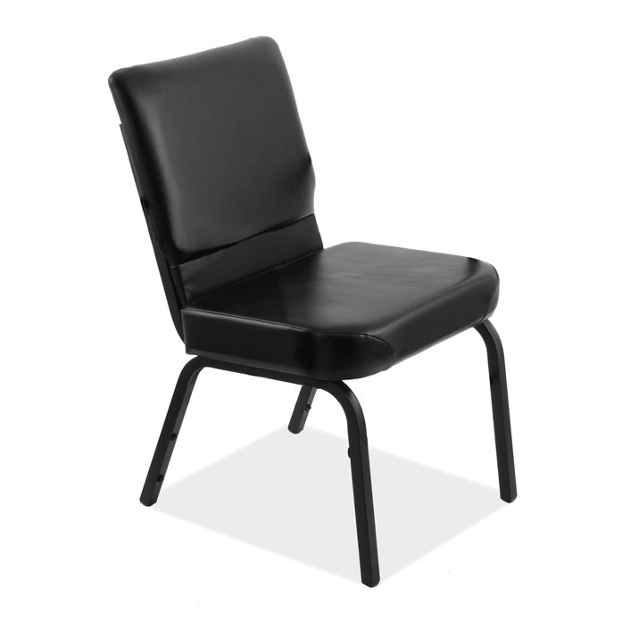 Big & Tall Armless Stack Chair with Black Frame