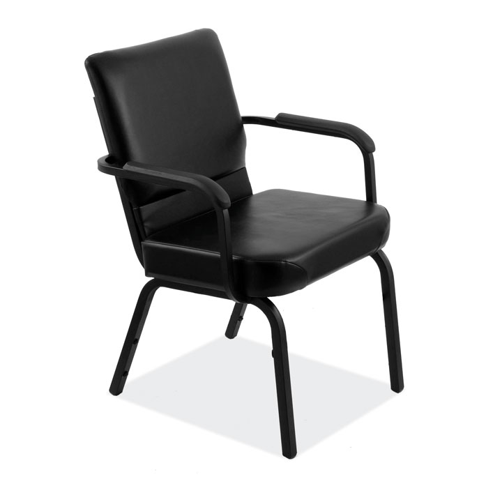 Big & Tall Stack Chair with Black Frame