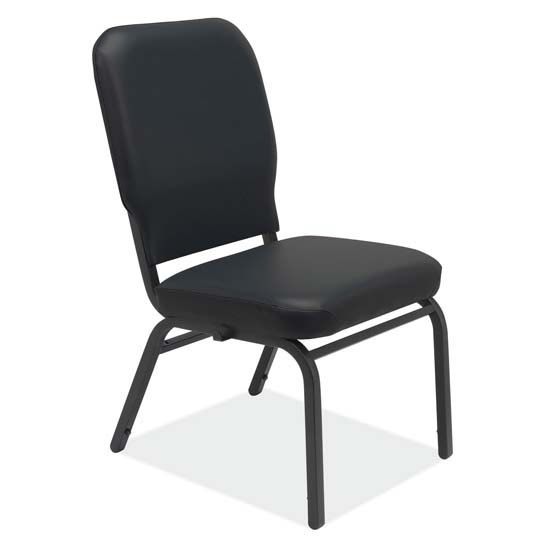 "Big and Tall Armless Stacking Chair – 3.5"" Seat Cushion"