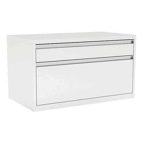 "2 Drawer Metal Benching File Cabinet – 30""W"