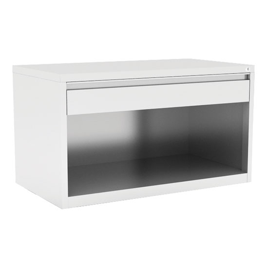"Benching Cabinet with Top Drawer and Open Bottom – 30"" W"