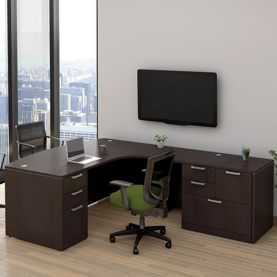 OfficeSource OS Laminate Collection L Shape Typical – OS112