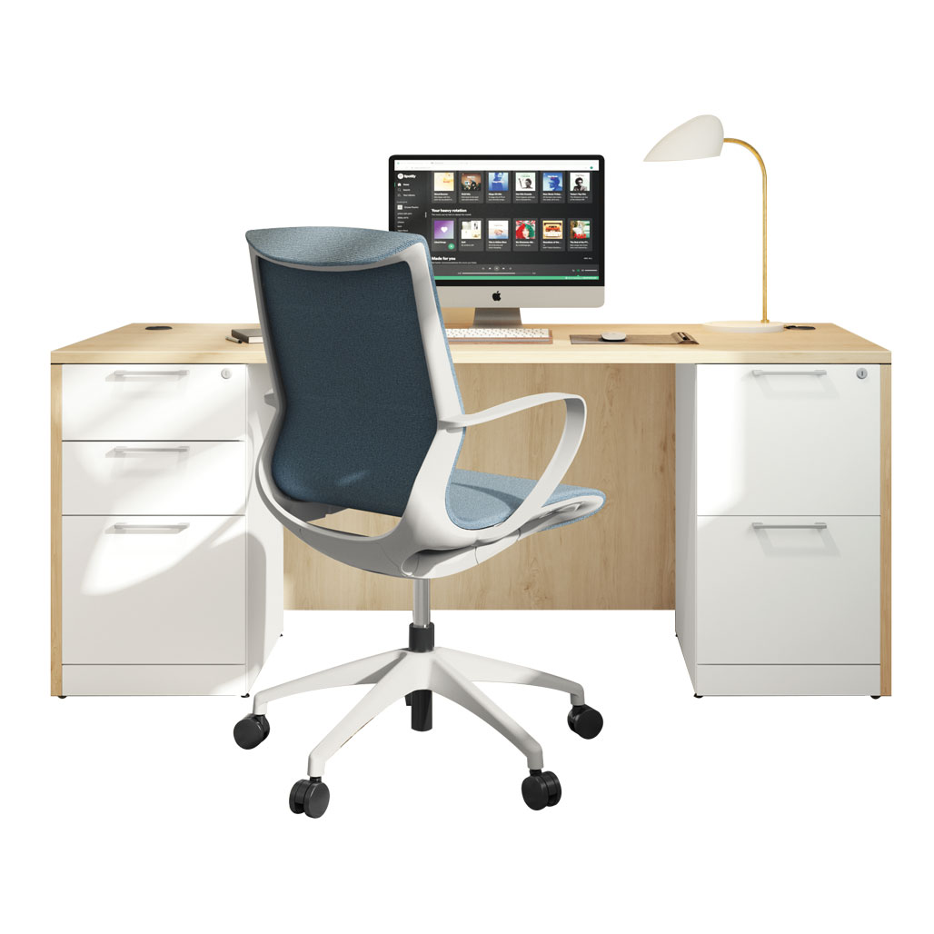 OfficeSource OS Laminate Collection  Double Full Pedestal Typical – OS235
