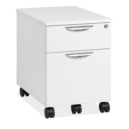 OfficeSource OS Laminate Collection Mobile Box and File Pedestal