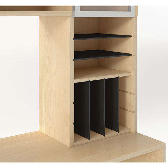Support – Vertical Hutch Organizer