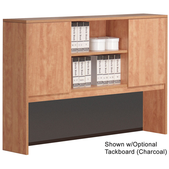 "OfficeSource OS Laminate Collection Hutch with Doors – 15""D"