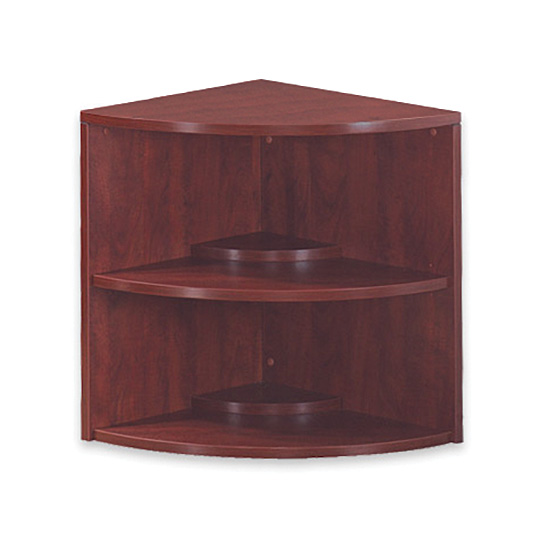 OfficeSource OS Laminate Collection Corner Bookcase