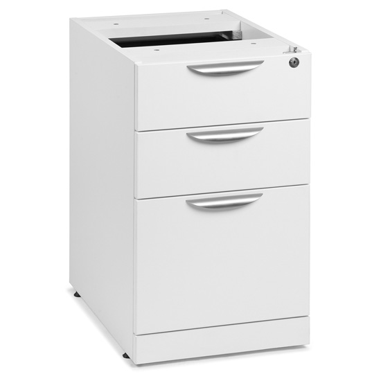 OfficeSource OS Laminate Collection 3 Drawer Deluxe Full Pedestal – Box/Box/File
