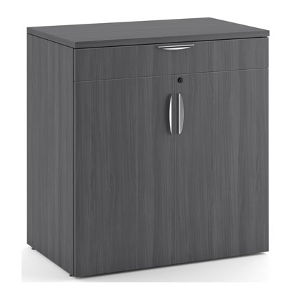 OfficeSource OS Laminate Collection Buffet Credenza with Top Drawer and Doors