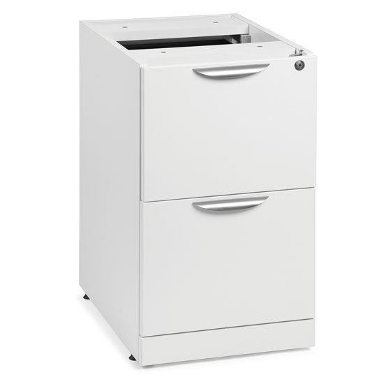 OfficeSource OS Laminate Collection 2 Drawer Deluxe Full Pedestal – File/File