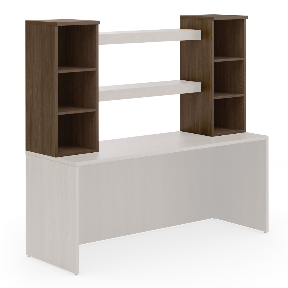 OfficeSource OS Laminate Collection Open Tower Storage without Doors