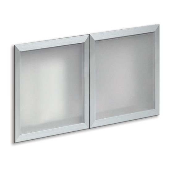 Optional Silver Glass Hutch Doors