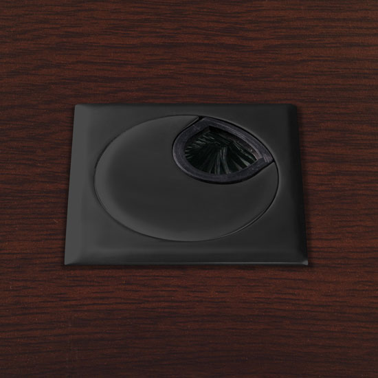 OfficeSource OS Laminate Collection Square Grommet